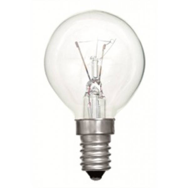 SES (E14) Clear Golf Ball Light Bulbs