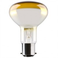 BC (B22) R80 Amber Reflector Light Bulbs