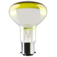 BC (B22) R80 Yellow Reflector Light Bulbs