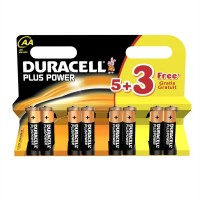 DURACELL PLUS AA 5+3 FREE