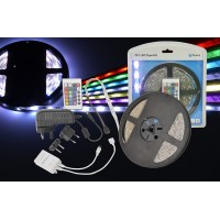 LED 5M STRIP FITTING SELF ADHESIVE COLOUR CHANGING