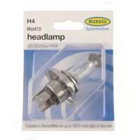 RING AUTOMOTIVE H4 RU472 CAR HALOGEN HEADLAMP BULB