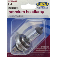 RING AUTOMOTIVE PREMIUM H4 RU472EQ CAR HALOGEN HEADLAMP BULB