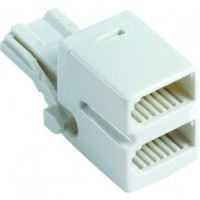 2 Way Telephone Adaptor Plug