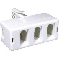 3 Way Telephone Adaptor Plug
