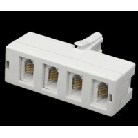 4 Way Telephone Adaptor Plug